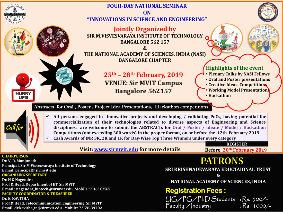 """Four-Day National Seminar On """"Innovations In Science And"""