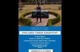 Mr.Cholanda Varun Ganapathy, lieutenant, ( 2014-2018) Batch, Dept. of Mechanical Engineering , Sir MVIT